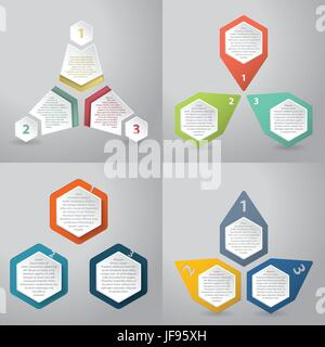 Abstract infographics background with hexagon elements - Stock Photo