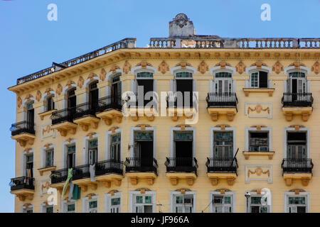 Historical architecture graces much of HABANA VIEJA  - HAVANA, CUBA - Stock Photo