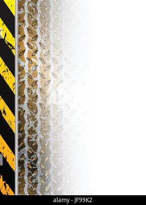 Industrial design with tire track fading in white space - Stock Photo