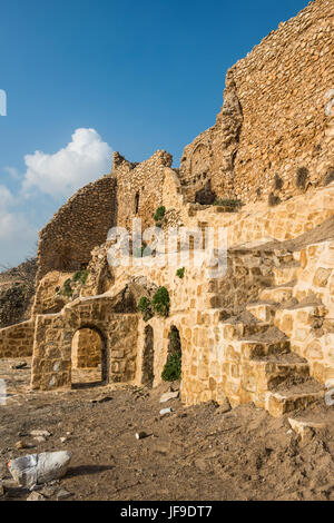 Syrian orthodox monastery Mar Mattai, (Sant Matthews Monastery) overlooking Mosul, Iraq - Stock Photo