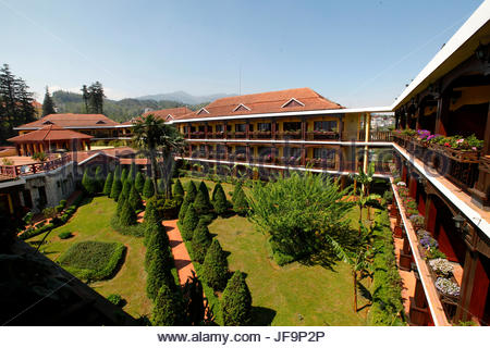 Outside view of the Victoria Sapa Resort and Spa. - Stock Photo