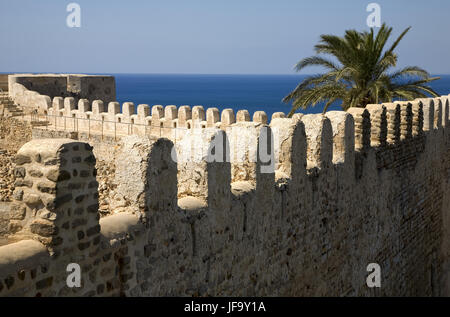 old fortres in Kelibia on cap Bon, Tunis. - Stock Photo