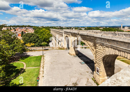 Aqueduct in Montpellier, France - Stock Photo