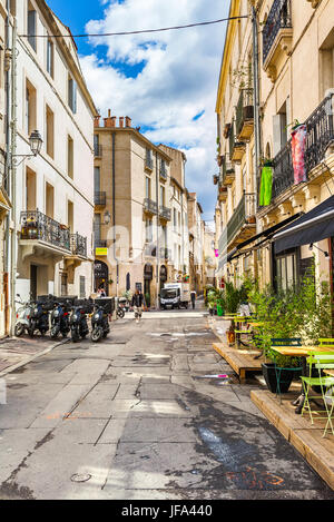 Street of Montpellier in France - Stock Photo