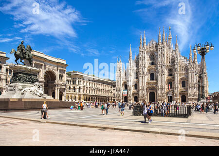 The Central area of Milan - Stock Photo