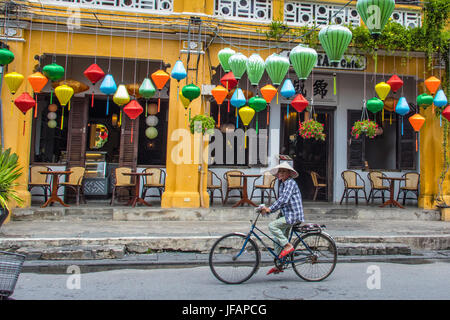 Traditional lanterns in Hoi An, Vietnam - Stock Photo