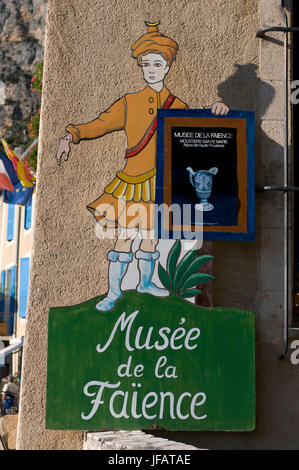 Museum of Faience Pottery, Moustiers-Sainte-Marie, Provence, France. - Stock Photo