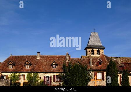 Medieval Village of Loubressac, Lot, France - Stock Photo