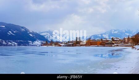 Mountains ski resort Zell am See - Austria - Stock Photo