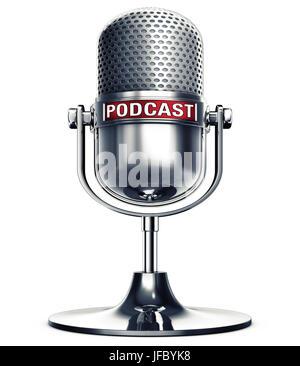 podcast - Stock Photo