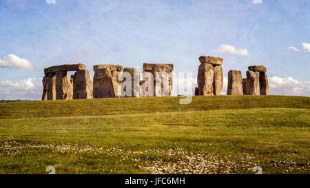 Stonehenge - Standing Stones - Stock Photo