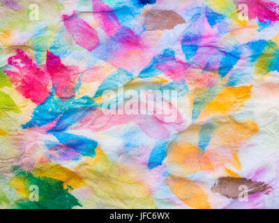 Abstract of colorful watercolor on tissue paper. Macro, Texture and background. - Stock Photo