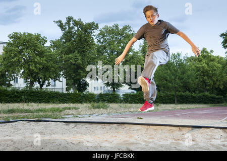 power for Long jump - Stock Photo