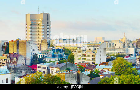 Bucharest cityscape, Romania - Stock Photo
