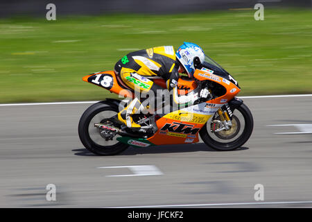 ASSEN, THE NETHERLANDS - JULY 21: Freudenberg Racing Team participates with a KTM GP bike in the German IDM championship - Stock Photo