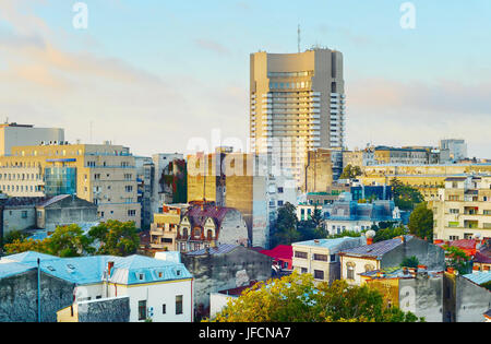 Bucharest skyline, Romania - Stock Photo