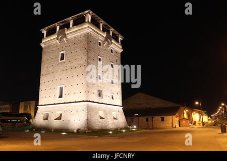 Torre di San Michele Cervia Night - Stock Photo