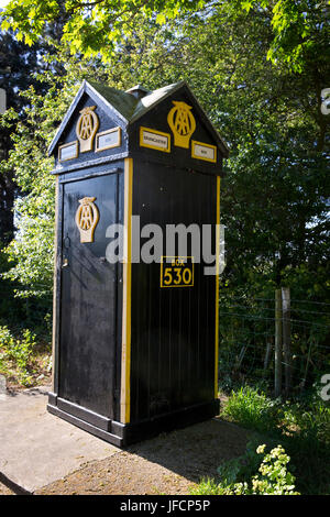 Picture shows: AA (Automobile Association) phone box at Brancaster, Norfolk © Julian Wyth. All rights reserved. - Stock Photo