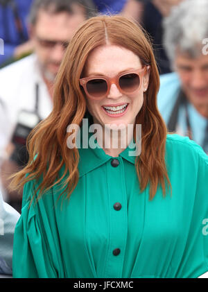 Julianne Moore attends Wonderstruck Photocall during the 70th annual Cannes Film Festival at Palais des Festivals - Stock Photo