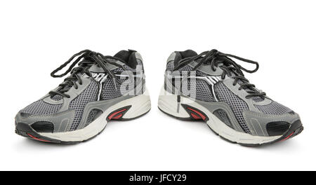 jogging shoes isolated on white - Stock Photo