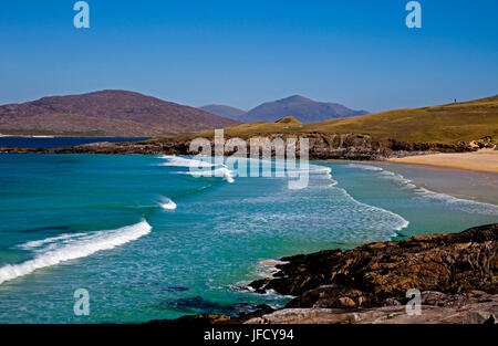 Isle of Harris, Traigh Lar beach, outer Hebrides, Scotland - Stock Photo