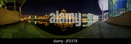 Panorama of the river Spree in Berlin - Stock Photo