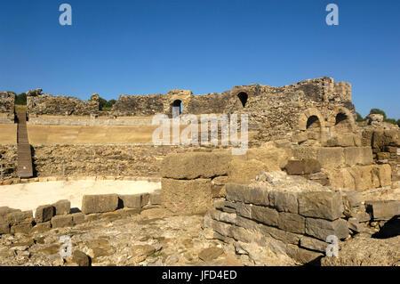 The Baelo Claudia ancient Roman town located in Bolonia, Cadiz province, Spain - Stock Photo