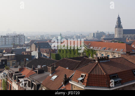 view from above the top of tower - Stock Photo
