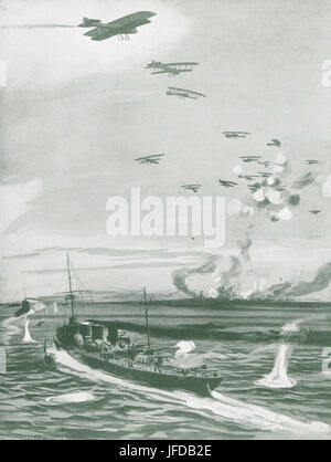 Air & Sea attack German Submarine base - Stock Photo