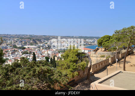 Rethymno Fortezza fortress city view - Stock Photo