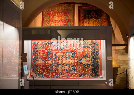 STANBUL, TURKEY - 5 APRIL , 2017: Museum collection of ancient rare carpets of Istanbul - Stock Photo