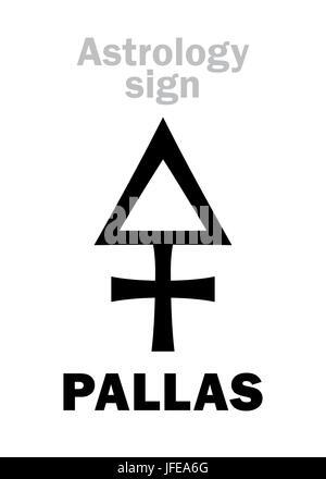 Astrology Asteroid Pallas Stock Photo 147236225 Alamy
