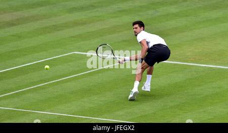 Novak Djokovic of Serbia during the Aegon International Eastbourne tennis tournament at Devonshire Park Eastbourne - Stock Photo