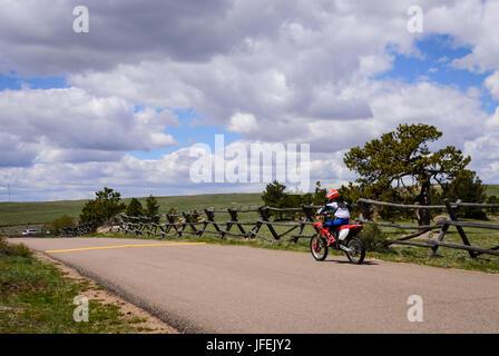 A kid, boy on a dirt bike. Motocross race, racing, USA - Stock Photo