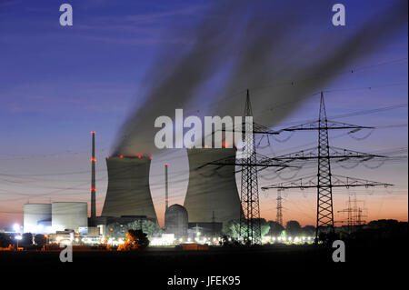 Nuclear power plant Gundremmingen - Stock Photo