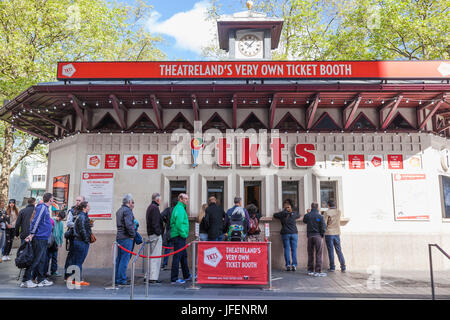 England, London, Leicester Square, Discount Theatre Ticket Booth - Stock Photo
