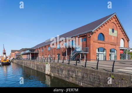 Wales, Glamorgan, Swansea, Swansea Docks, National Waterfront Museum - Stock Photo