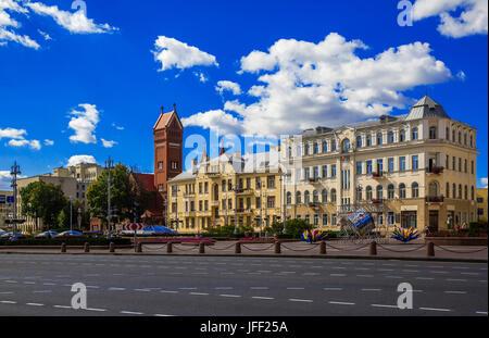 Minsk, Belarus, Independence Square - Stock Photo