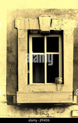 Israel Old Window in Jaffa. Vintage Style Toned Picture - Stock Photo