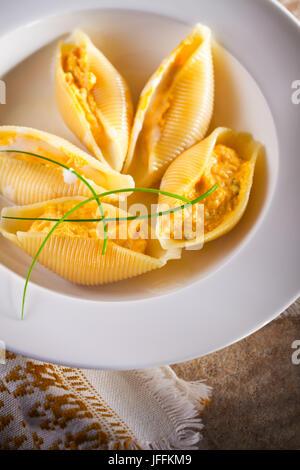 Stuffed Pasta Shells - Stock Photo