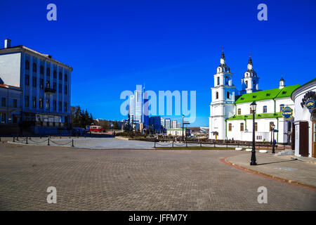 Minsk, Belarus, Holy Spirit Cathedral - Stock Photo