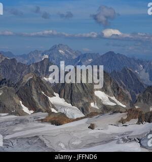 Mountains and glacier in Switzerland - Stock Photo