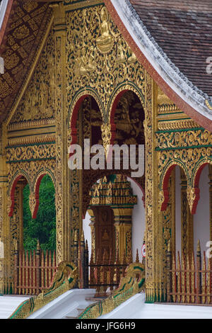 Haw Pha Bang temple at the Royal Palace grounds in Luang Prabang, Laos, Asia - Stock Photo