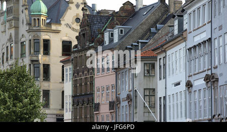 Copenhagen historical city center view - Stock Photo