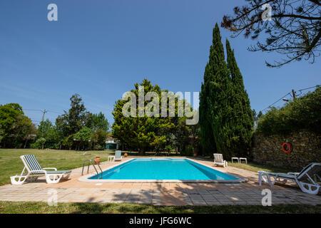 Outdoor swimming pool - Stock Photo