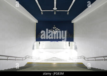 Metro station Michalova, Minsk, Belarus - Stock Photo