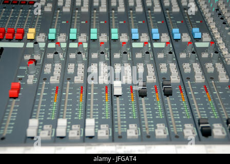 Sound mixing console - Stock Photo