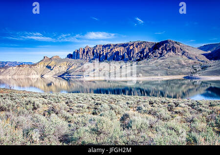 blue mesa reservoir in gunnison national forest co - Stock Photo