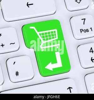 Internet Konzept online Shopping E-Commerce bestellen und einkaufen - Stock Photo