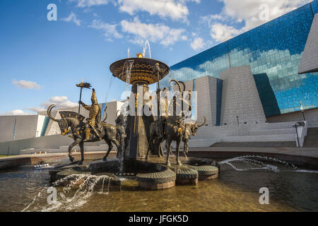 Kazakhstan, Astana City, New Administrative City, National Gallery Building, - Stock Photo